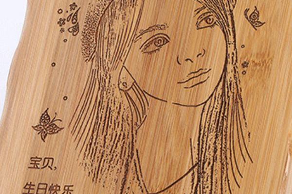 Plank laser engraving