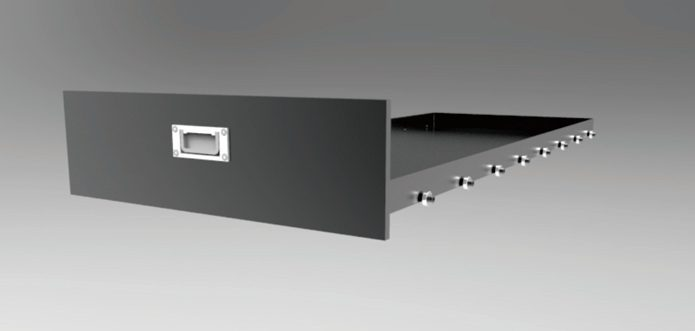 Drawer with bearings