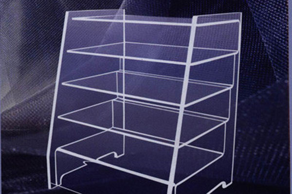 Acrylic display stand laser cutting
