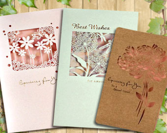 Greeting cards marking
