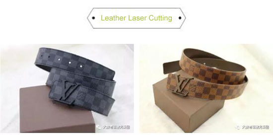 laser cutting leather belt