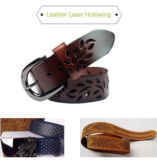 laser hollowing leather
