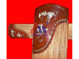 The musical instrument carving and hits the sign